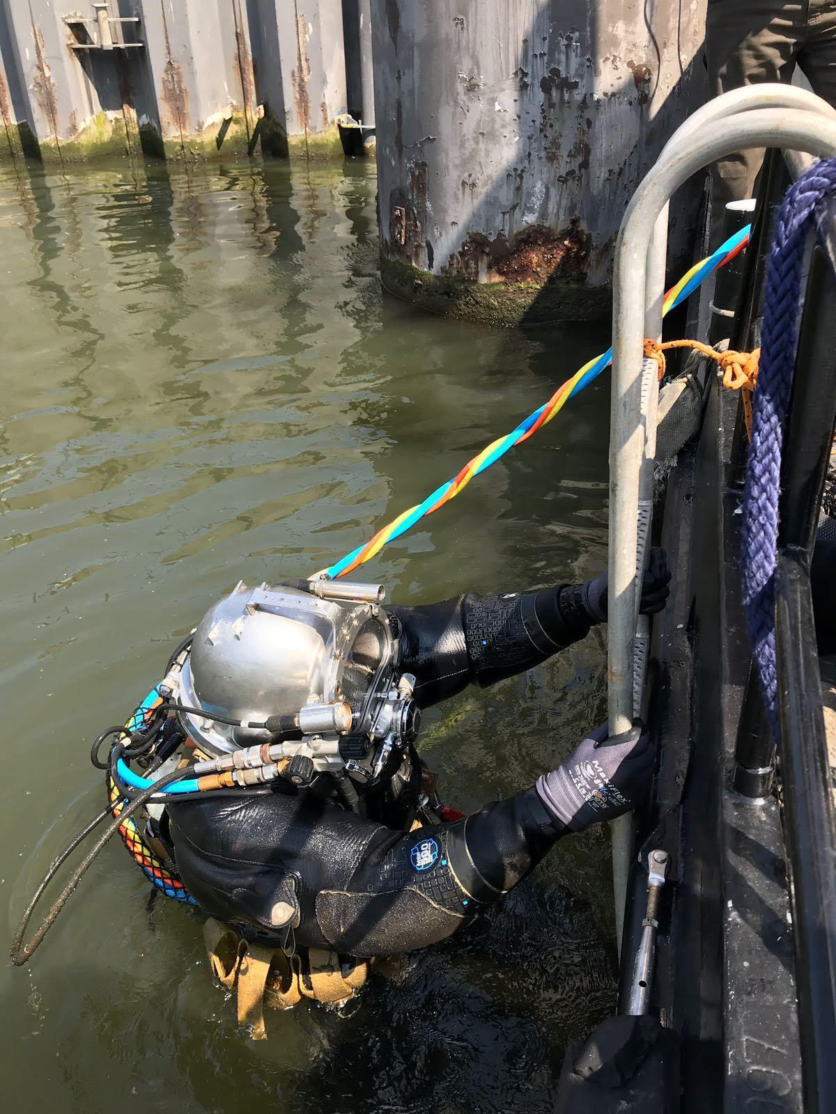 Kanaal Gent Terneuzen Walhout Civil duik onderzoek